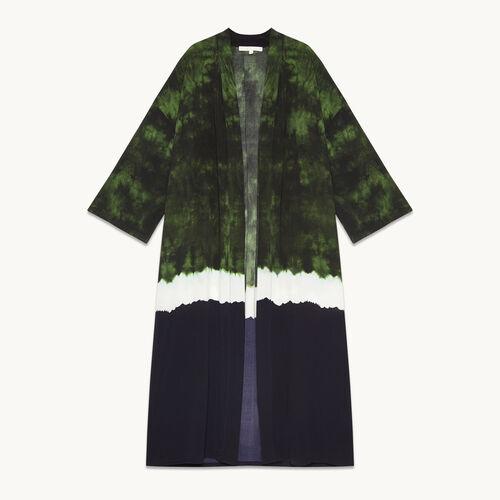 Kimono-Jacke mit Tie & Tye-Print - Jacken - MAJE