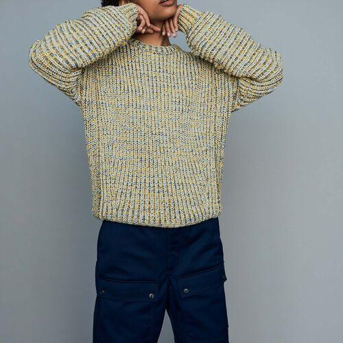 마쥬 MAOUS 오버사이즈 스웨터 (윤아 착용) MAJE MAOUS Oversize-Pullover aus edlem Strick - Strickwaren,Mehrfarbigen