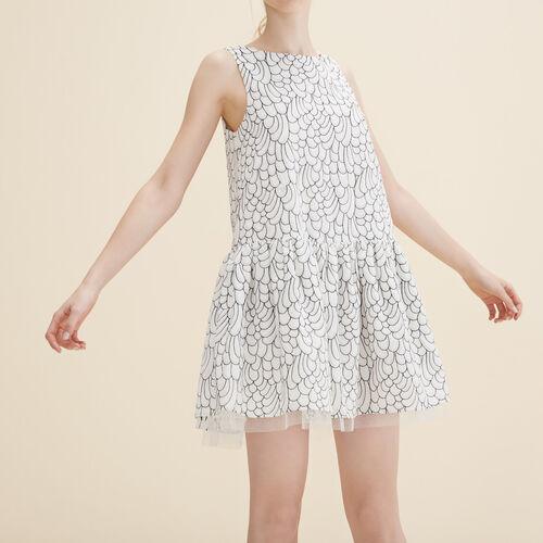 Ärmelloses langes Kleid mit Stickerei - Kleider - MAJE