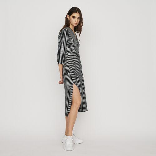 마쥬 RAVA 스트라이프 미디 원피스 MAJE RAVA Midi-Kleid mit Streifen