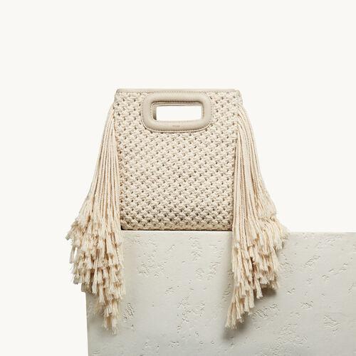 M Tasche aus Baumwollstrick - Taschen - MAJE