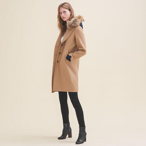 Langer Mantel aus Wolle und Kaschmir - Mäntel - MAJE