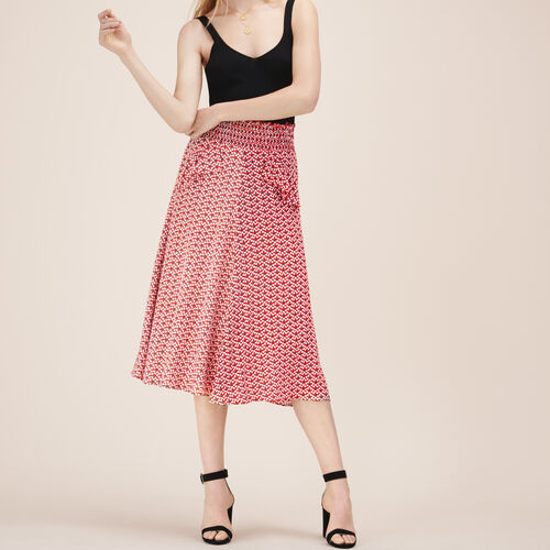 Midirock mit Print - Röcke & Shorts - MAJE