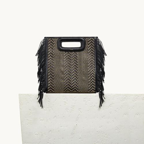 M Tasche aus Leder mit Flechtdetails - Taschen - MAJE