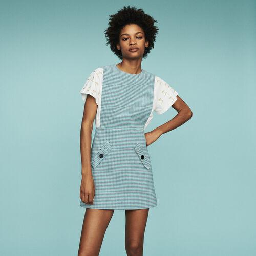 19 SS 마쥬 RIOPA 민소매 원피스 ('진심이 닿다' 유인나 착용) MAJE RIOPA Tunika-Kleid aus Leinen Natte - Blau