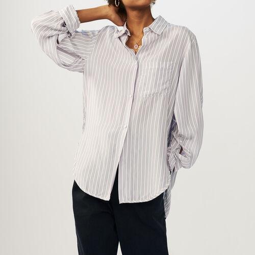 마쥬 CELINA 손예진 착용 스트라이프 셔츠 MAJE CELINA Striped shirt - Hemden
