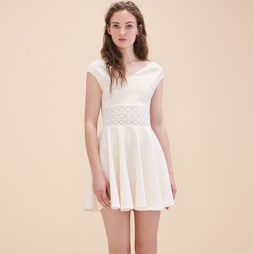 Ärmelloses Kleid mit Stickerei - Kleider - MAJE