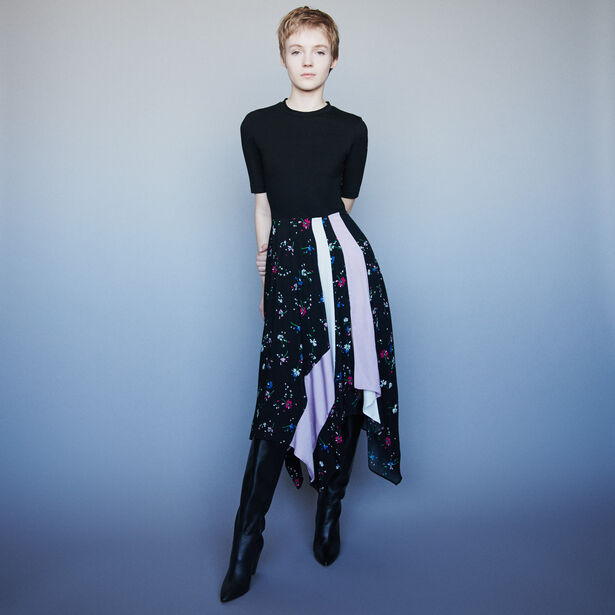마쥬 원피스 MAJE 119RILILA Trompe-L-Oeil Kleid mit Mix-Print - Mehrfarbigen
