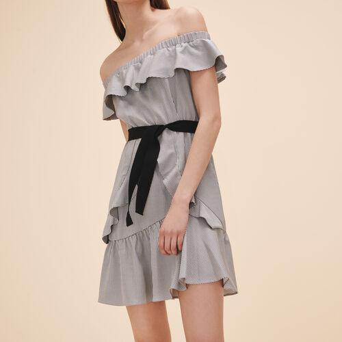Kurzes Kleid mit Streifen - Kleider - MAJE