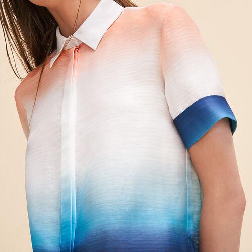 Hemd mit Tie & Dye-Print - Tops - MAJE