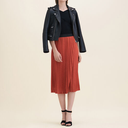 Plisseerock aus Lurexstrick - Röcke & Shorts - MAJE