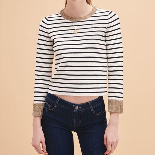 Pullover im Matrosen-Stil aus Strick - Strickwaren - MAJE