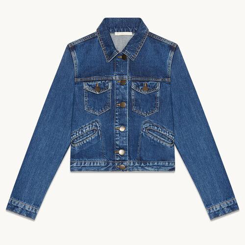 Blouson aus Jeans - Jacken - MAJE