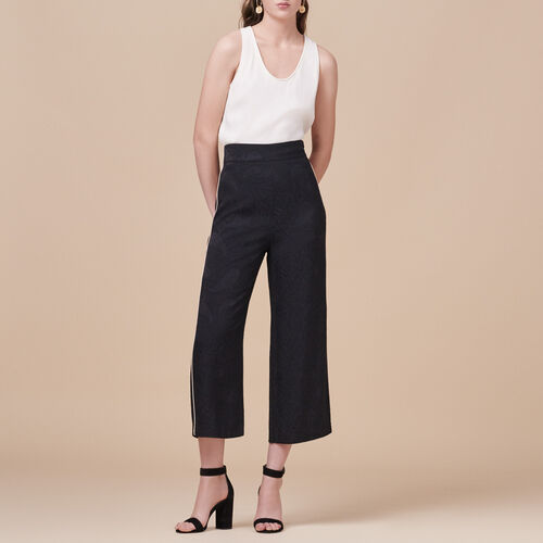 Weite Hose mit Brokat-Print - Hosen - MAJE