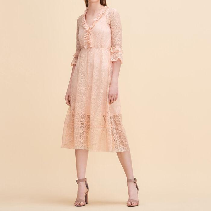Langes Kleid aus Spitze -  - MAJE