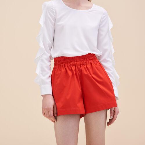 Fließende Shorts - Röcke & Shorts - MAJE