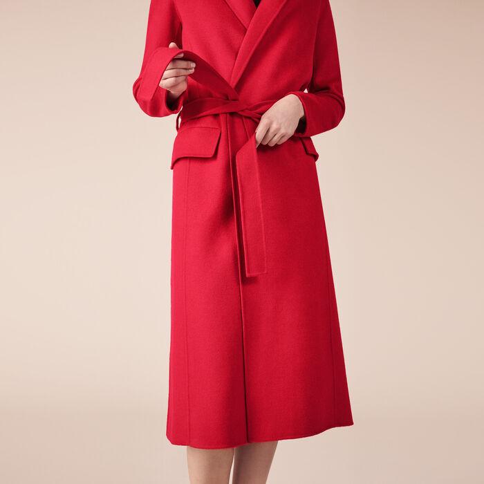 Mantel aus einer Wollmischung -  - MAJE