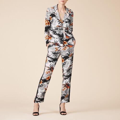 Fließende Hose mit Aufdruck - Hosen - MAJE