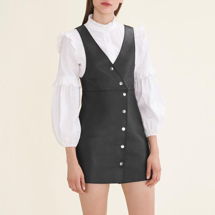 Ärmelloses Kleid aus Leder - Kleider - MAJE