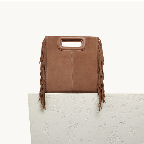 M Tasche aus Veloursleder - Taschen - MAJE