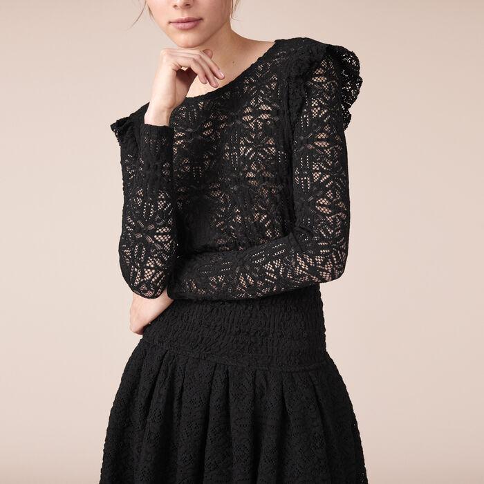 Kurzes Kleid aus Spitze - Kleider - MAJE