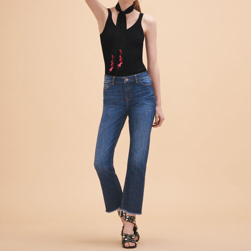 Gerade Jeans aus Stretchbaumwolle - Jeans - MAJE