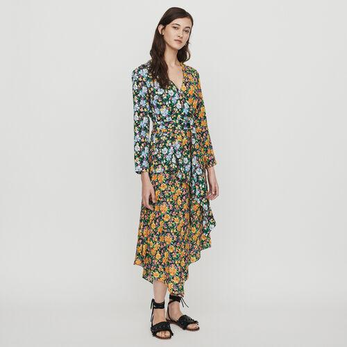 마쥬 ROEN 플로럴 프린트 롱 원피스 MAJE ROEN Langes Kleid mit Blumen Print - IMPRIME