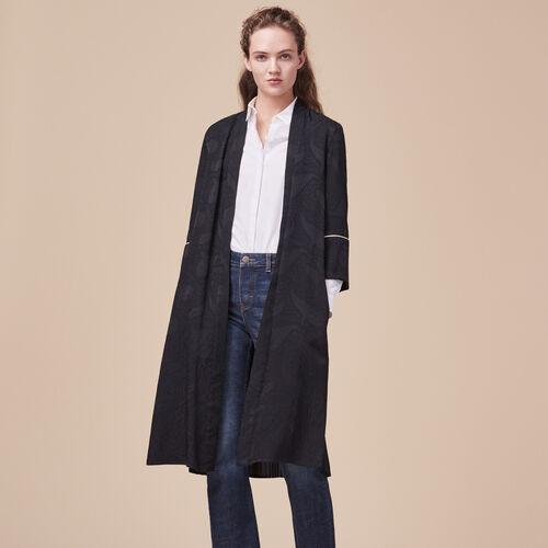 Fließender Mantel im Kimono-Stil - Jacken - MAJE