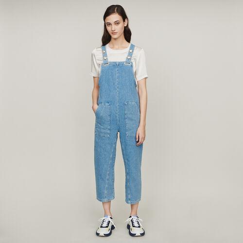 마쥬 PIMBO 데님 점프 수트 MAJE PIMBO Jeans Jumpsuit