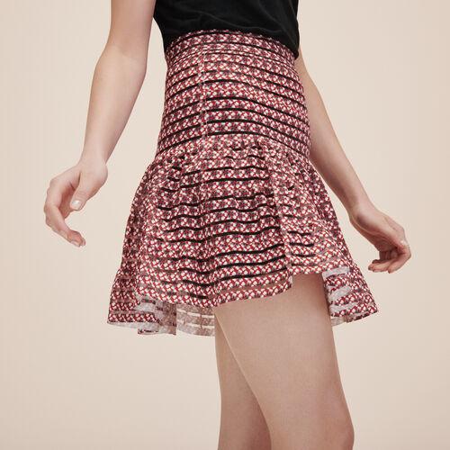 Rock mit elastischen Streifen - Röcke & Shorts - MAJE