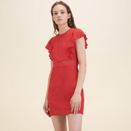 Gerades Kleid aus gemusterter Spitze - Kleider - MAJE