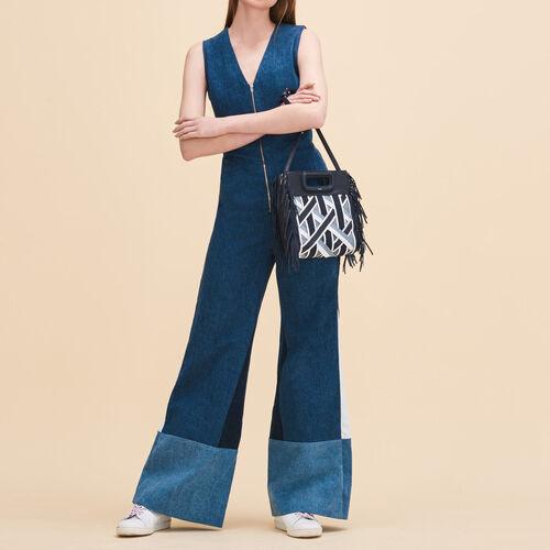 Ärmelloser Jumpsuit - Jeans - MAJE
