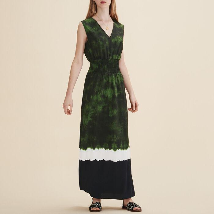 Langes Kleid mit Print -  - MAJE