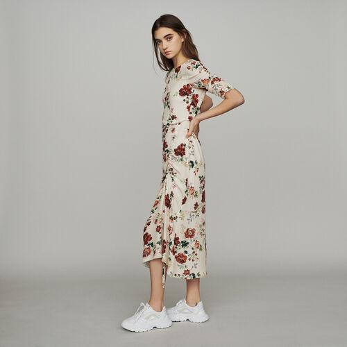 마쥬 RONDI 플로럴 프린트 롱 원피스 MAJE RONDI Langes Kleid mit Allover Blumen-Print - Print