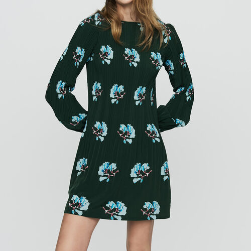 마쥬 원피스 MAJE ROCKINETT Plissee-Kleid mit floralem Print - Kleider,IMPRIME