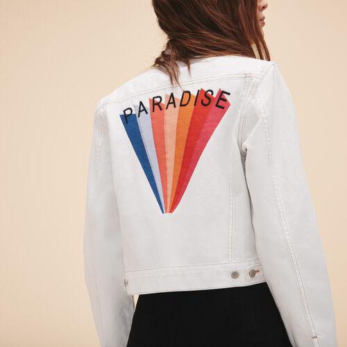 Jacke aus Jeans mit Stickereien - Jacken - MAJE