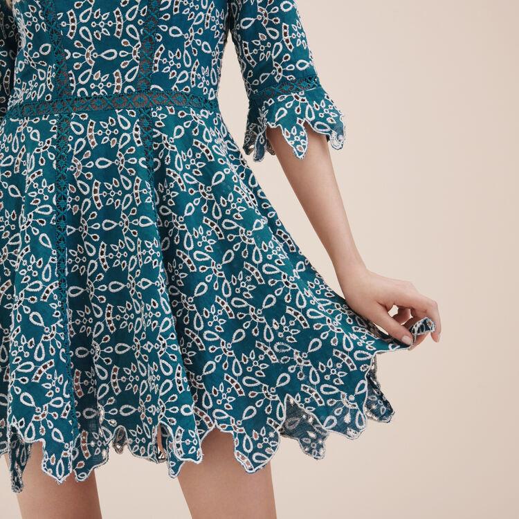 Kurzes Kleid aus Gipüre - Kleider - MAJE