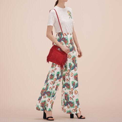 Weite Hose mit Aufdruck - Hosen - MAJE