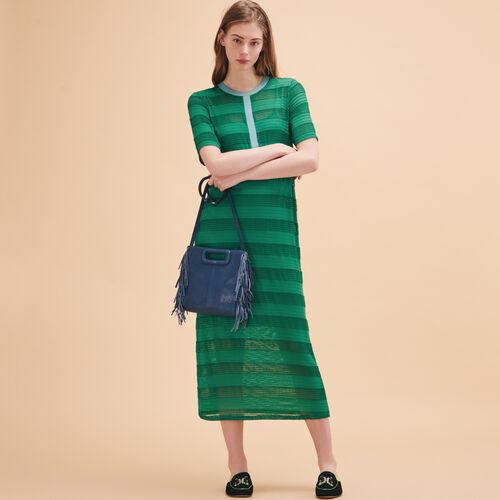 Langes Kleid aus gestrickter Schnur - Kleider - MAJE