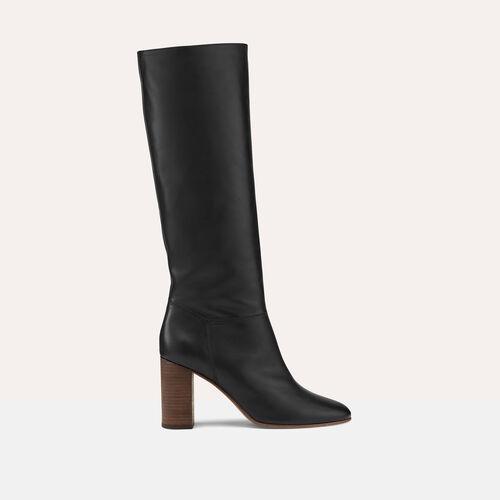 Stiefel aus Glattleder - Schuhe - MAJE