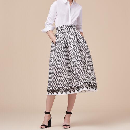 Mittellanger Rock aus Spitze - Röcke & Shorts - MAJE