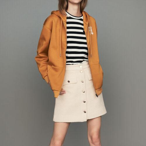 마쥬 TOAGA 집업 후드티 [55% 할인] MAJE TOAGA Kapuzen-Sweatshirt mit Reissverschluss - Sweatshirts, Camel