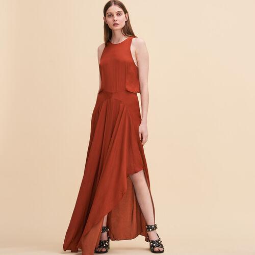 Langes Kleid ohne Ärmel - Kleider - MAJE