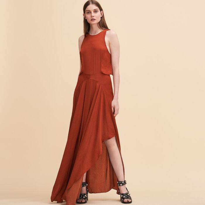 Langes Kleid ohne Ärmel -  - MAJE