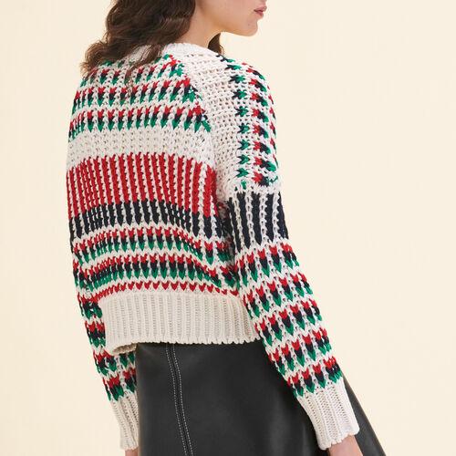Pullover aus bunt gemustertem Strick - Strickwaren - MAJE