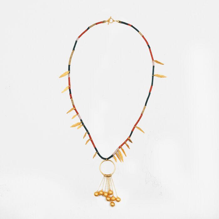 Lange Halskette mit Pampillen - Schmuck - MAJE