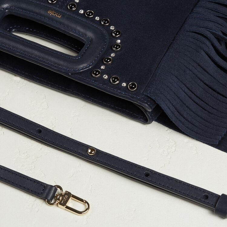 Tasche aus Veloursleder mit Nieten - Taschen - MAJE