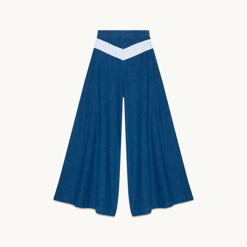Hosenrock aus Jeans - Jeans - MAJE
