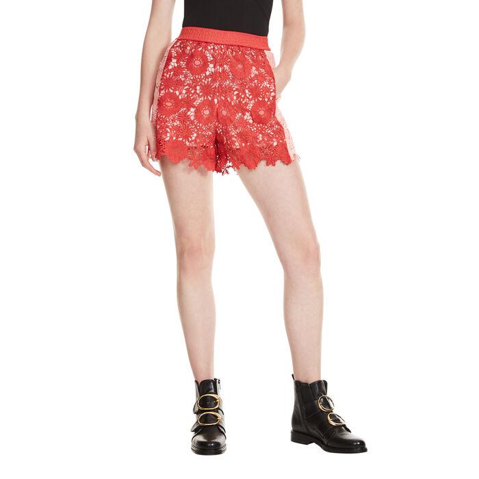 Shorts aus Gipüre -  - MAJE