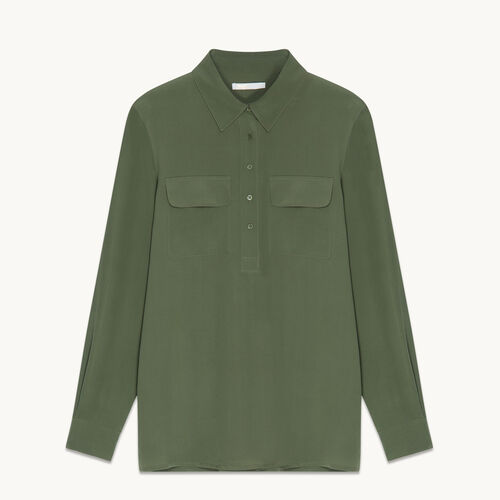 Bluse aus Seide - Tops - MAJE